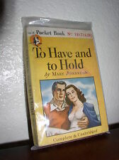 To Have and to Hold by Mary Johnston (Pocket-354,3'rd Prt. Aug.1946,PB)