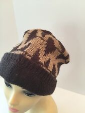 NWT Michael Kors Oversized Beanie Knit Hat Camel/Brown One Size 536167