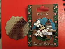 Disney Pin Gingerbread House Collection 2016 Epcot Mickey Chef White House LE