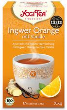 Bio Ingwer Orange mit Vanille Teemischung, 30,6 g NEU & OVP von Yogi Tea