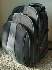 Black Grey Wenger Swiss Army Laptop Computer Backpack