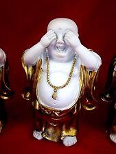 "~SALE~SET of THREE~ 6"" T~ MONK's BUDDHA's {Hear/See/Speak No Evil}"
