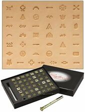 Craftool Native American Symbol Stamp Set 43 Stamps Tandy Leather Item 8160-00