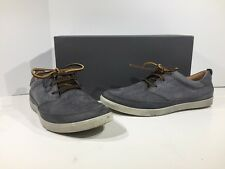 Ecco Collins Men's Size 7-7.5 Titanium Leather Casual Shoes X1-2114