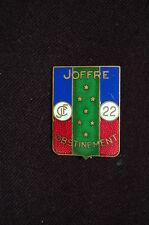 INSIGNE CHANTIERS DE JEUNESSE-JOFFRE  22 - ETAT FRANCAIS-VICHY-FRENCH BADGE 2°WW