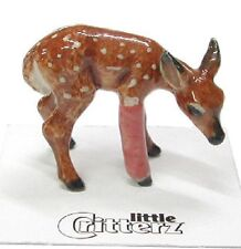 little Critterz Porcelain - Rescue Deer Fawn - LC604 (Buy 5 get 6th free!)
