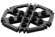 LEGO 3 x Technik, Platte Rotorblatt 6 mit Clip Enden verbunden (Wasserrad) -