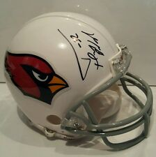 Tyrann Mathieu Signed Cardinals Mini-helmet with Inscription - Mathieu hologram