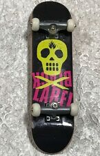 Tech Deck Black Label Yellow Skull & Crossbones Fingerboard Skateboard 96mm