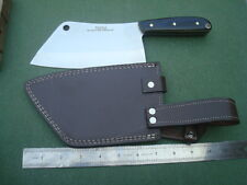 SG-237B Custom made D-2 steel HEAVY DUTY MEAT CLEAVER/LINEN MICARTA/HEAT TREATED