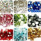 1000PCS 26 COLOUR RESIN BEADS FLAT BACK RHINESTONES 14 FACETS NAIL ART CRAFTS GB