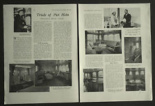 Trials Of The Piet Hein Holland Royal Yacht & Interior 1937 2 Page Photo Article