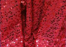 "RES STRETCH  MESH W/RED SEQUINS  FABRIC 50"" WIDE BY THE YARD"