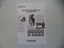 advertising Pubblicità 1972 MACCHINA PER CUCIRE SINGER 700