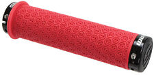 SRAM Locking DH MTB Grips Mountain Bike Silicone Rubber Grip Set - Red