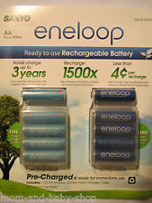 Sanyo Eneloop NiMH Rechargeable Battery AA x10 + Storge Cases x2