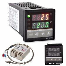 AC 100-240V Digital PID Temperature Controller & 40A SSR & K Thermocouple Probe
