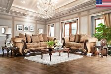 2pc Sofa Set Living Room Furniture Formal Traditional Sofa Loveseat Pillows USA