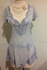Nataya Age Of Love Romantic Vintage Inspired SZS Light blue Embroidery