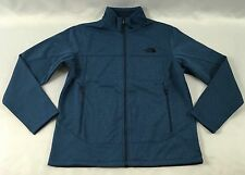 The North Face Men's Canyonwall Jacket WindWall Full Zip Blue Heather Size L
