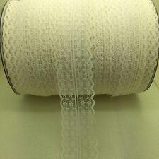 Beautiful~10 Yards Bilateral Handicrafts Embroidered Net Lace Trim Ribbon khaki