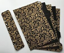 Filofax A5 Organiser Planner 6 Ring - Stunning Black & Gold Dividers - Laminated