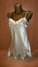 Marjolaine BNWT 100% silk slip french lace lingerie chemise size 40 nightdress