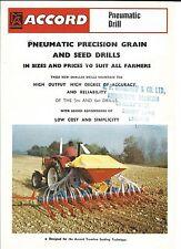 Farm Equipment Brochure - Accord - Pneumatic Drill - c1977 (F4619)