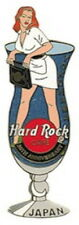 Hard Rock Cafe YOKOHAMA 2003 HRC Japan 20th Anniversary PIN Hurricane GIRL 18235