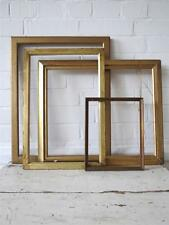 Vintage Art Deco Wood Wall Picture Frames or Photo Frames Set of 4 Gold
