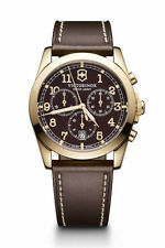 New Victorinox Swiss Army Infantry Men's Brown Dial Leather Strap Watch 241647