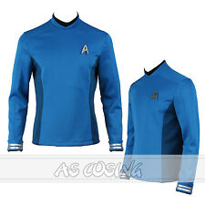 Star Trek Beyond Spock Cosplay Costume Science Officer Uniform Blue Shirt