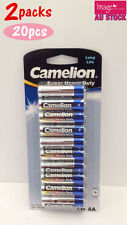 2x Pack of 10pcs Camelion AA Batteries Super Heavy Duty 1.5V Long Life