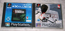 2 PLAYSTATION 1 PS1 SPIELE SAMMLUNG TOM CLANCY RAINBOW SIX & RS ROGUE SPEAR