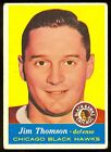 1957-58 TOPPS HOCKEY #23 JIM THOMSON EX COND CHICAGO BLACK HAWKS CARD