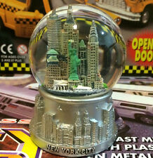 Silver New York City Snow Globe 3.5 Inch (65mm) Skylines & Statue liberty WG187