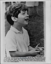 John Kennedy Jr. burns his hand in Hawaii 1966 Press Wire Photo