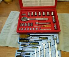 Vintage Fleet Tools USA Socket Set In Plastic Case With Wrenches & Screwdrivers