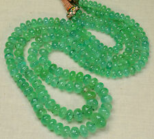 "5mm-12.3MM Large Colombian EMERALD Plain Rondelle Beads 37.5"" Strand"