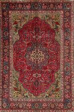 "Semi-Antique Tree Of Life 7x10 Tabriz Persian Oriental Area Rug 10' 1"" x 6' 6"""