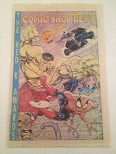 comic shop news # 240 ,1992 larson ( spiderman, hulk, ghost rider ) cover