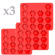 3 pack x Mini Paw Silicone Baking flexible Mold Ice Tray Dog Puppy Treat Cookie