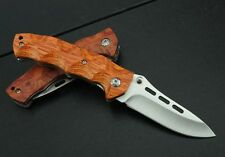 J.C.H. Rosewood Survival Pocket Folding Knife Limited Collection Hunting Fishing