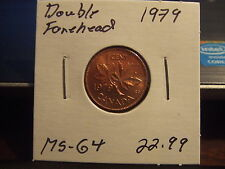 CANADA ONE CENT 1979 Double Forehead MS-++++!!!! Full Red