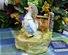 Beatrix Potter Drake Puddle duck Musical Music box Drake Rotates