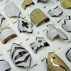 Free shipping 15pcs Mix style Gold & Silver Frosted Rings wholesale jewelry lots