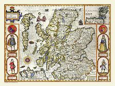 Limited Edition 1000 Piece Jigsaw Puzzle Map of Scotland 1611 by John Speed