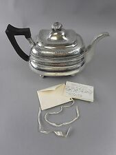 Sterling Silver Tea Pot w Lion Family Crest Dated to 1813 Dublin Ireland by MF