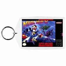 Super Nintendo Snes MEGA MAN X  Game Box Cover Cartridge Keychain