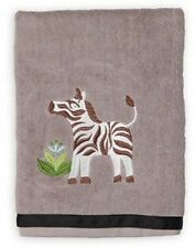 Allure Essential Home Safari Jungle Grey Zebra Bath Towel